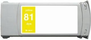 Kompatibilní inkoust s HP C4933A (HP81) žlutý