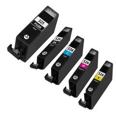 Kompatibilní inkousty s Canon CLI-526 černý, modrý, červený a žlutý + PGI-525Bk