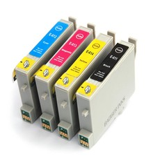Kompatibilní inkousty s Epson T0615 černý, modrý, červený a žlutý