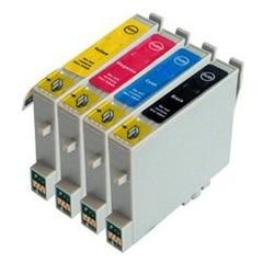 Kompatibilní inkousty s Epson T0555 černý, modrý, červený a žlutý