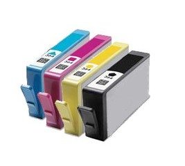 Kompatibilní inkousty s HP N9J74AE (HP364XL) černý, modrý, červený a žlutý - WIL