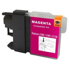 Kompatibilní inkoust s Brother LC1100M/LC980M červený