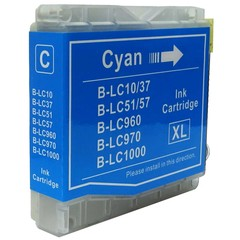 Kompatibilní inkoust s Brother LC1000C/LC970C modrý