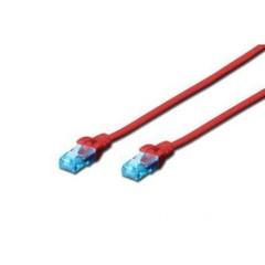 Digitus Patch Cable, UTP, CAT 5e, AWG 26/7, červený, 0,5m