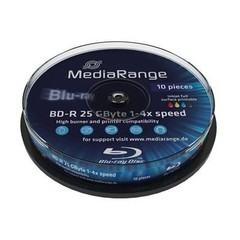 MediaRange BD-R 4x, 25GB, Printable, 10 ks, spindle
