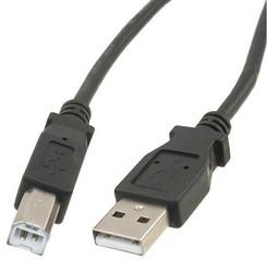 PremiumCord USB 2.0 kabel propojovací, A-B, 2m, černý, KU2AB2BK