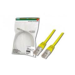 Digitus Patch Cable, UTP, CAT 5e, AWG 26/7, žlutý, 0,5m