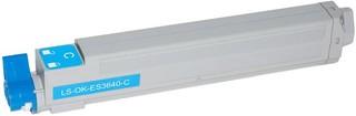 Kompatibilní toner s OKI 43837107, azurový
