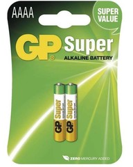 GP, alkalická AAAA baterie, 25A, 2ks