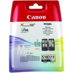 Originální inkoust Canon PG-510 černý + CL-511 barevný, 2970B010