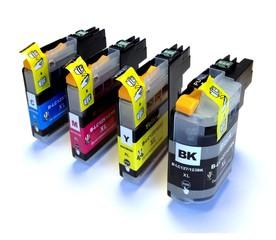 Kompatibilní inkousty s Brother LC-1220/1240/1280 černý, azurový, purpurový a žlutý