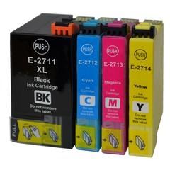 Kompatibilní inkousty s Epson T2715 černý, modrý, červený a žlutý