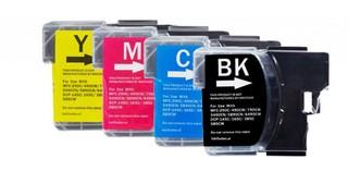 Kompatibilní inkousty s Brother LC-980 / LC-1100 černý, modrý, červený a žlutý
