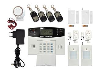 Bezdrátový GSM alarm s LCD displ., 4x dálk.ovl., 2x PIR, 2x DOOR, 1x siréna, HF-GSM03