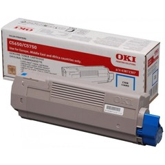 Originální toner s OKI 43872307 modrý