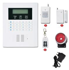 Bezdrátový GSM alarm, 2x dálk.ovl., 1x PIR, 1x DOOR, 1x siréna, HF-GSM01B