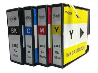 Kompatibilní inkousty s Canon PGI-2500 černý, modrý, červený a žlutý XL