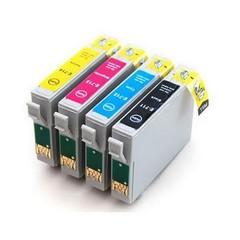 Kompatibilní inkousty s Epson T0715 černý, modrý, červený a žlutý