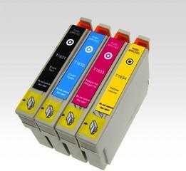 Kompatibilní inkousty s Epson T1636 černý, modrý, červený a žlutý