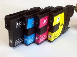 Kompatibilní inkousty s Brother LC-970 / LC-1000 černý, modrý, červený a žlutý