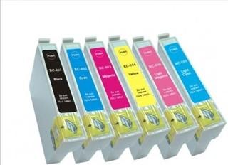 Kompatibilní inkousty s Epson T0807 černý, modrý, červený, žlutý, světle modrý a světle červený