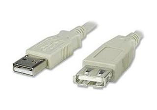 USB 2.0 kabel prodlužovací, A-A, 1,5m šedý