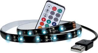 Solight LED RGB pásek pro TV,100cm, USB, vypínač, dálkový ovladač, WM503