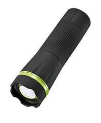 Solight pogumovaná svítilna, 1W LED, černá, fokus, 3 x AAA, WL07A