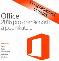 Microsoft Office 2016 pro domácnosti a podnikatele, CZ, T5D-02737