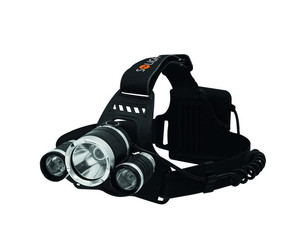 Solight LED čelová svítilna SUPER POWER, 900lm, 3x Cree LED, 4x AA, WH23