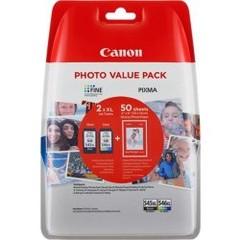 Originální inkoust Canon PG-545XL + CL-546XL + 50x foto papír GP-501, 8286B006