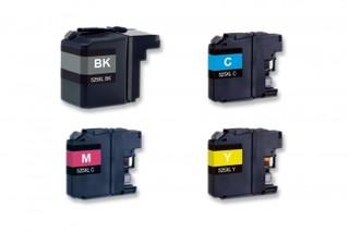 Kompatibilní inkousty s Brother LC-529XL černý + LC-525XL modrý, červený a žlutý