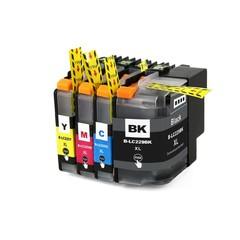 Kompatibilní inkousty s Brother LC-229XL černý + LC-225XL modrý, červený a žlutý