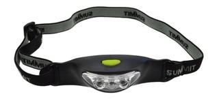 Solight čelová LED svítilna, 3x LED, černo-šedá, 2x CR2032, WH17