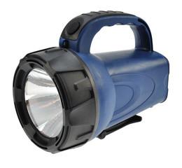 Solight nabíjecí LED svítilna, 3W LED, Li-Ion, černomodrá