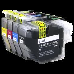 Kompatibilní inkousty s Brother LC-3217/LC-3219XL černý, modrý, červený a žlutý