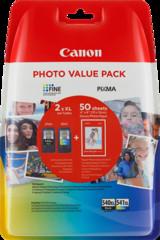 Originální inkoust Canon PG-540XL + CL-541XL + 50x foto papír GP-501, 5222B013