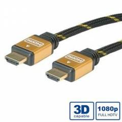 Roline 11.04.5501 propojovací HDMI 1.4 kabel, zlacené konektory, 1m