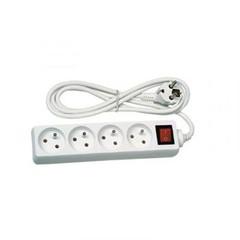 Prodlužovací přívod PremiumCord 230V, 2m, 4 zásuvky + vypínač