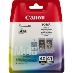 Originální inkoust Canon PG-40 černý + CL-41 barevný (0615B043)