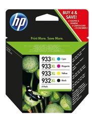 Originální inkoust HP 932XL + HP 933XL (C2P42AE), 4-Pack