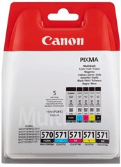 Originální inkoust Canon PGI-570PGBK + CLI-571CMYK (0372C004), PGBK 15 ml. + CMYK 4 x 7 ml.