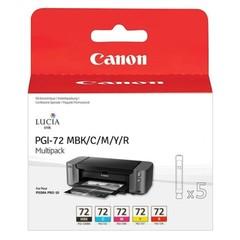 Originální inkoust Canon PGI-72 MBk/C/M/Y/R, 6402B009, multipack