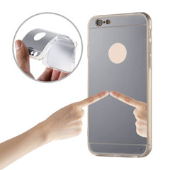 Plastové pouzdro MIRROR pro Samsung A8 2018 A530 - stříbrné