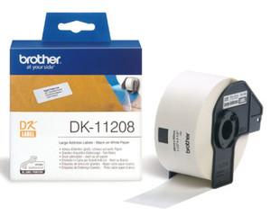 Originální papírové štítky Brother DK-11208