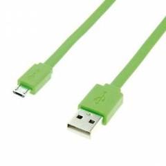 Roline 11.02.8763 micro USB 2.0 kabel, 1m, plochý, zelený