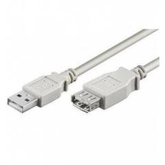 PremiumCord USB 2.0 kabel prodlužovací, A-A, 5m, šedý, KUPAA5