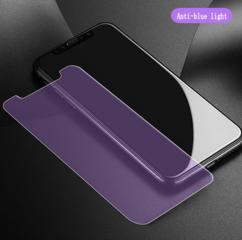 Tvrzené sklo 3D pro iPhone X - Anti light blue