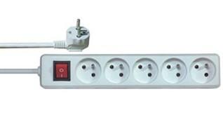 Prodlužovací přívod PremiumCord 230V, 3m, 5 zásuvek + vypínač