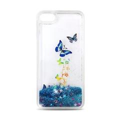 Silikonové pouzdro pro Huawei P10 Lite - tmavě modré s motýlemi